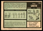 1971 O-Pee-Chee #174  Rick Smith  Back Thumbnail