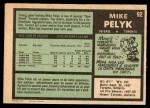 1971 O-Pee-Chee #92  Mike Pelyk  Back Thumbnail