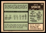 1971 O-Pee-Chee #198  Brian Spencer  Back Thumbnail