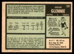 1971 O-Pee-Chee #197  Brian Glennie  Back Thumbnail