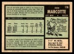 1971 O-Pee-Chee #176  Don Marcotte  Back Thumbnail