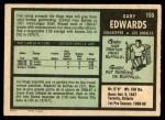 1971 O-Pee-Chee #155  Gary Edwards  Back Thumbnail