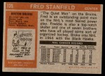 1972 Topps #135  Fred Stanfield  Back Thumbnail