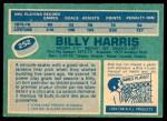 1976 O-Pee-Chee NHL #252  Billy Harris  Back Thumbnail