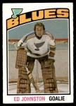 1976 O-Pee-Chee NHL #285  Ed Johnston  Front Thumbnail