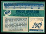 1976 O-Pee-Chee NHL #92  Chuck Arnason  Back Thumbnail
