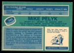 1976 O-Pee-Chee NHL #342  Mike Pelyk  Back Thumbnail
