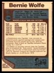 1977 O-Pee-Chee #138  Bernie Wolfe  Back Thumbnail