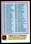 1977 O-Pee-Chee #381  Checklist  Front Thumbnail