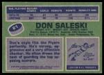 1976 Topps #81  Don Saleski  Back Thumbnail