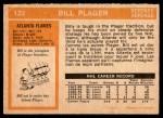 1972 O-Pee-Chee #122  Bill Plager  Back Thumbnail