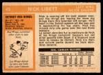 1972 O-Pee-Chee #45  Nick Libett  Back Thumbnail