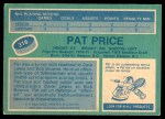 1976 O-Pee-Chee NHL #318  Pat Price  Back Thumbnail