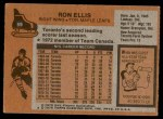 1975 Topps #59  Ron Ellis   Back Thumbnail