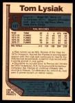 1977 O-Pee-Chee #127  Tom Lysiak  Back Thumbnail