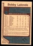 1977 O-Pee-Chee #313  Bobby Lalonde  Back Thumbnail