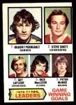 1977 O-Pee-Chee #7   -  Gilbert Perreault / Steve Shutt / Guy LaFleur / Rick MacLeish / Peter Mcnab GWG Leaders Front Thumbnail