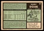 1971 O-Pee-Chee #87  Gary Doak  Back Thumbnail