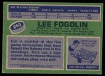 1976 Topps #253  Lee Fogolin  Back Thumbnail