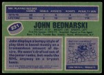 1976 Topps #231  John Bednarski  Back Thumbnail