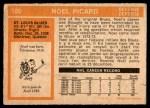 1972 O-Pee-Chee #180  Noel Picard  Back Thumbnail
