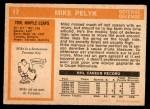 1972 O-Pee-Chee #17  Mike Pelyk  Back Thumbnail
