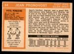 1972 O-Pee-Chee #64  Jean Pronovost  Back Thumbnail