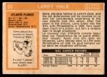 1972 O-Pee-Chee #53  Larry Hale  Back Thumbnail
