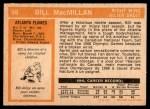 1972 O-Pee-Chee #98  Bill MacMillan  Back Thumbnail