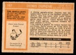 1972 O-Pee-Chee #167  Denis Dupere  Back Thumbnail