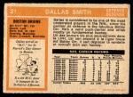 1972 O-Pee-Chee #21  Dallas Smith  Back Thumbnail