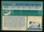 1976 O-Pee-Chee NHL #54  Bob Murdoch  Back Thumbnail