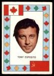 1972 O-Pee-Chee Team Canada #10  Tony Esposito  Front Thumbnail
