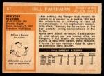 1972 O-Pee-Chee #87  Bill Fairbairn  Back Thumbnail