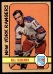 1972 O-Pee-Chee #87  Bill Fairbairn  Front Thumbnail