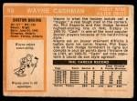 1972 O-Pee-Chee #68  Wayne Cashman  Back Thumbnail