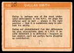 1972 O-Pee-Chee #135   -  Dallas Smith In Action Back Thumbnail