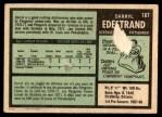 1971 O-Pee-Chee #187  Darryl Edestrand  Back Thumbnail