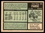 1971 O-Pee-Chee #243  Jean-Paul Parise  Back Thumbnail