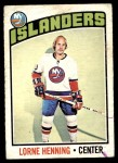 1976 O-Pee-Chee NHL #193  Lorne Henning  Front Thumbnail