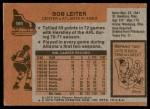 1975 Topps #191  Bob Leiter  Back Thumbnail