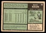 1971 O-Pee-Chee #80  Dave Keon  Back Thumbnail