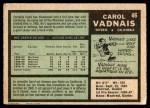 1971 O-Pee-Chee #46  Carol Vadnais  Back Thumbnail
