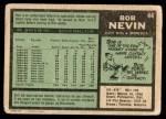 1971 O-Pee-Chee #44  Bob Nevin  Back Thumbnail