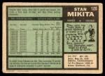 1971 O-Pee-Chee #125  Stan Mikita  Back Thumbnail