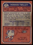 1973 Topps #21  Howard Twilley  Back Thumbnail