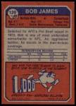 1973 Topps #120  Bob James  Back Thumbnail