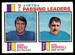 1973 Topps #2   -  Norm Snead / Earl Morrall Passing Leaders Front Thumbnail