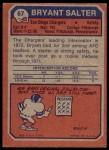 1973 Topps #67  Bryant Salter  Back Thumbnail