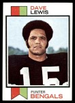 1973 Topps #88  Dave Lewis  Front Thumbnail